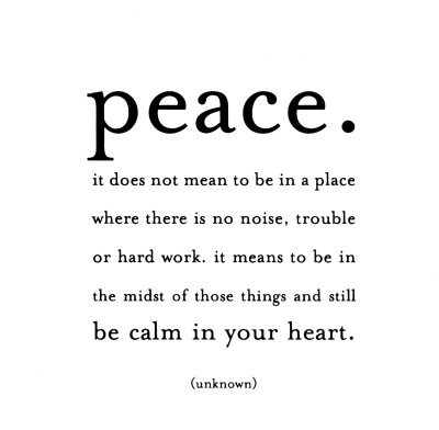 peace quotecard